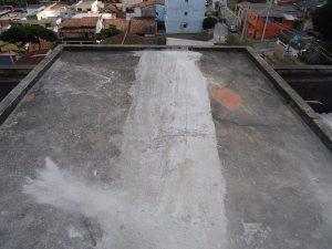 Impermeabilização de lajes durante