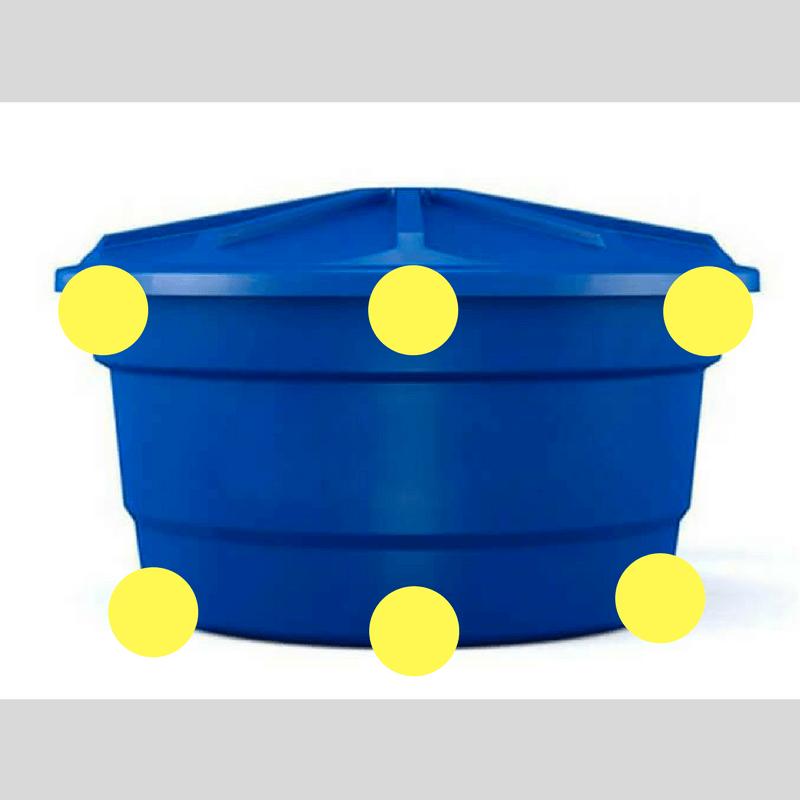 como instalar caixa d'água - onde furar