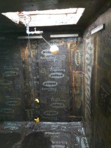 Caixa d'água com mantas asfálticas Mantas Asfálticas